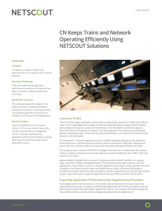 CN Keeps Trains and Network Operating Efficiently Using