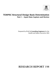 TEMPSC Structural Design Basis Determination Part 1