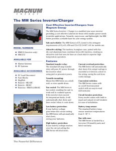 The MM Series Inverter/Charger