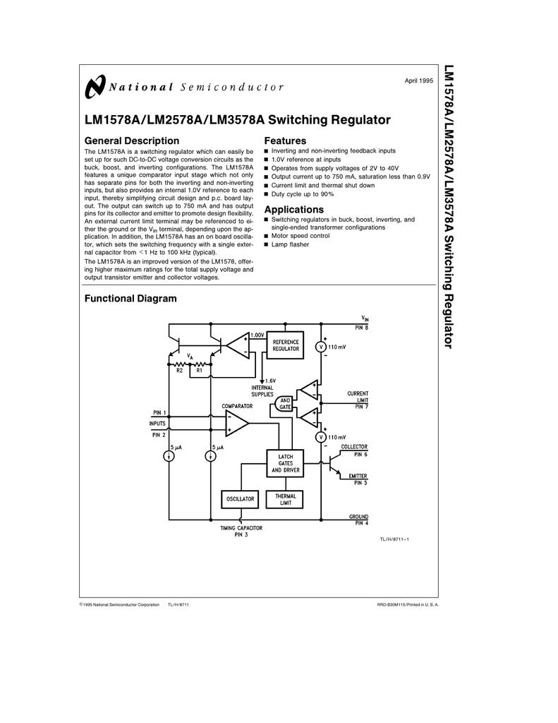LM3578A data sheet - a pdf file