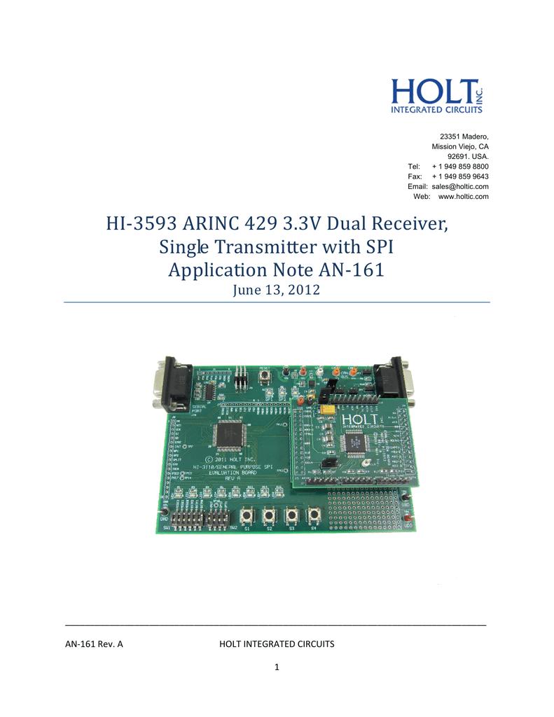 AN-161 Rev. A - Holt Integrated Circuits