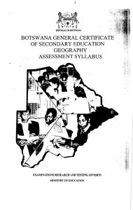 BOTSWANA GENERAL CERTIFICATE OF SECONDARY