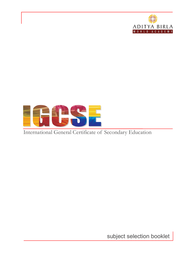 International General Certificate of Secondary Education subject