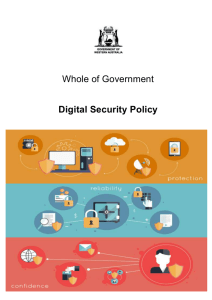 Whole of Government Digital Security Policy