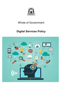 Whole of Government Digital Services Policy
