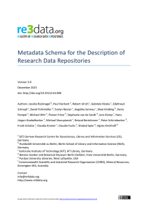 Metadata Schema for the Description of Research Data