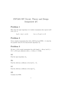 INF5481 RF Circuit, Theory and Design Assignment #1