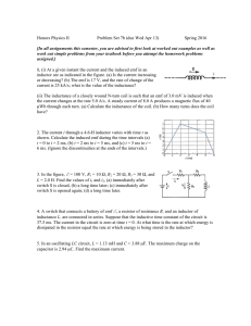 Honors Physics II Problem Set 7b (due Wed Apr 13) Spring 2016 [In