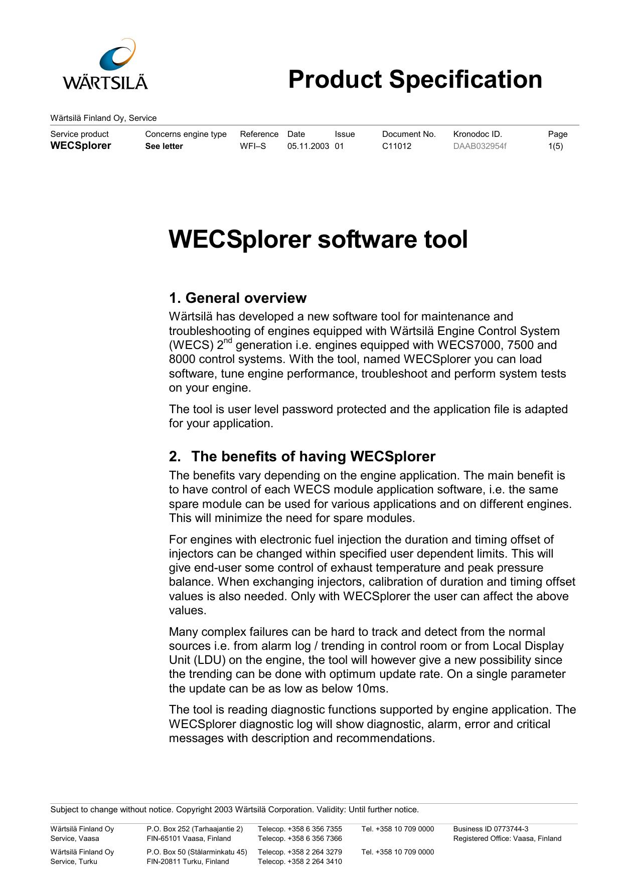 Technical Bulletin Template