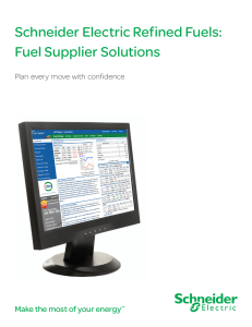 Schneider Electric Refined Fuels: Fuel Supplier Solutions