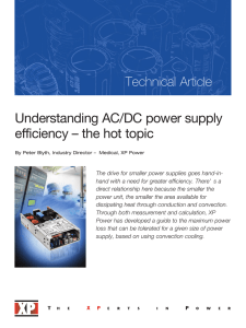 Understanding AC/DC power supply efficiency