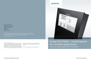 Desigo Fire Safety – control panels for versatile applications
