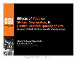 Effects of yoga on stress, depression, and health-related