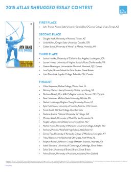 2009 atlas shrugged essay contest Paine uc essay prompt 1: