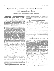 Approximating Discrete Probability Distributions with Dependence