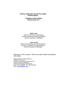 CAPITAL GAINS AND THE CAPITAL ASSET PRICING MODEL