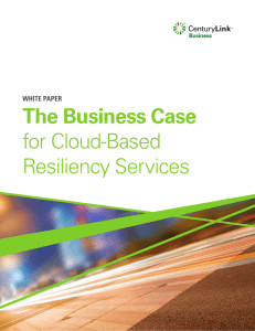 The Business Case for Cloud-Based Resiliency