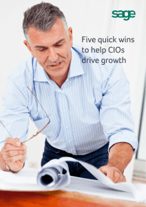 Five quick wins to help CIOs drive growth
