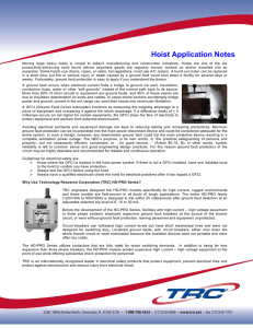 Hoist Application Notes - Technology Research, LLC