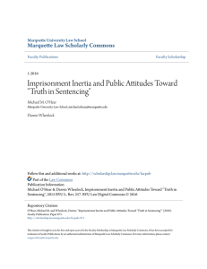 "Imprisonment Inertia and Public Attitudes Toward ""Truth in Sentencing"""