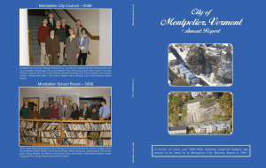 City of Montpelier 2007 Annual Report
