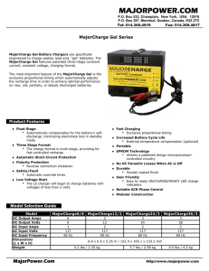 MajorCharge Gel Specifications