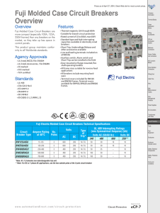 Fuji Molded Case Circuit Breakers Overview