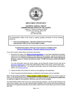 employment opportunity eleventh judicial circuit administrative office