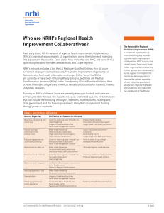 Who are NRHI`s Regional Health Improvement Collaboratives?