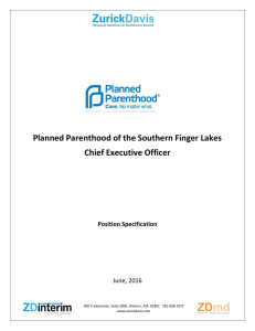 Planned Parenthood of the Southern Finger Lakes Chief Executive
