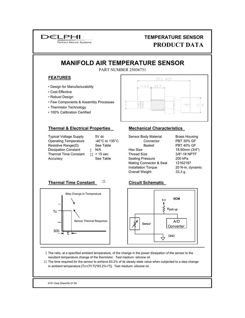 GM Air Temp Sensor Datasheet Manifold Air Temperature Sensor Wiring Diagram on