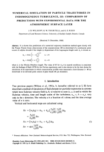 Numerical simulation of particle trajectories in inhomogeneous