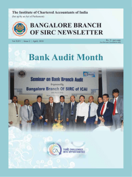 1 April 2010 - Bangalore Branch of SIRC of ICAI
