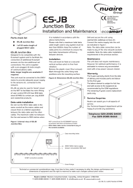 Junction Box And Wiring Guidelines For Twisted Pair Lonworks ...