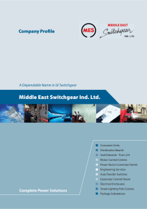 Middle East Switchgear Ind. Ltd.