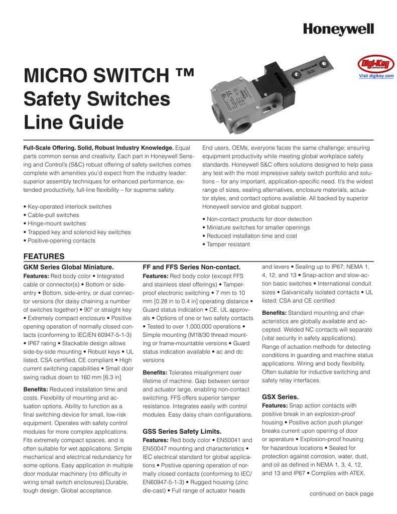 Micro Switch Digi Enclosure Wiring Methods