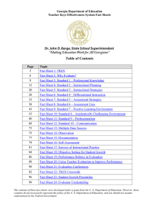 Table of Contents - Georgia Department of Education
