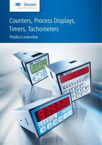 Counters, Process Displays, Timers, Tachometers