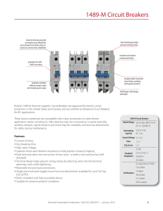 1489-M Circuit Breakers