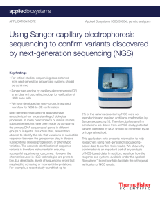 Using Sanger capillary electrophoresis sequencing to confirm