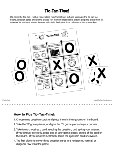 Tic-Tac-Time! - Lakeshore Learning