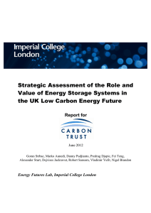 Strategic Assessment of the Role and Value of Energy