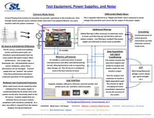 Test Equipment, Power Supplies, and Noise