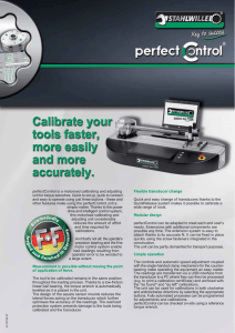perfectControl is a motorised calibrating and adjusting unit for torque