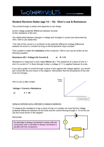 Ohms Law_14to16_Student_Revision_Notes