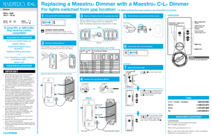 Replacing a Maestro® Dimmer with a Maestro® C•L