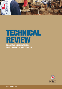 Technical review: practical guidelines fortest pumping in water wells