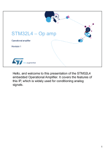 Hello, and welcome to this presentation of the STM32L4 embedded