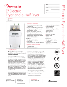 E4 Electric Fryer-and-a-Half Fryer E Electric Fryer-and-a
