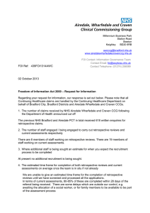 439FOI1314 - NHS Airedale, Wharfedale and Craven Clinical